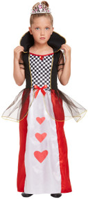 Girls Heart Queen Fancy Dress Cotume