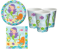 Mermaid Party Tableware Set