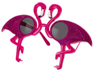 Adults Glittery Flamingo Fancy Dress Glasses