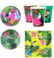 Tropical Bright Party Tableware Set