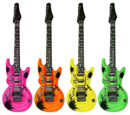 Inflatable Neon Rock Guitar