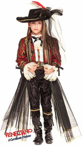 Girls Deluxe Pirate Captain Fancy Dress Costume