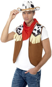 Mens Instant Cowboy Fancy Dress Kit