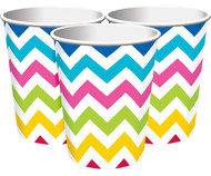 Rainbow Chevron Party Cups