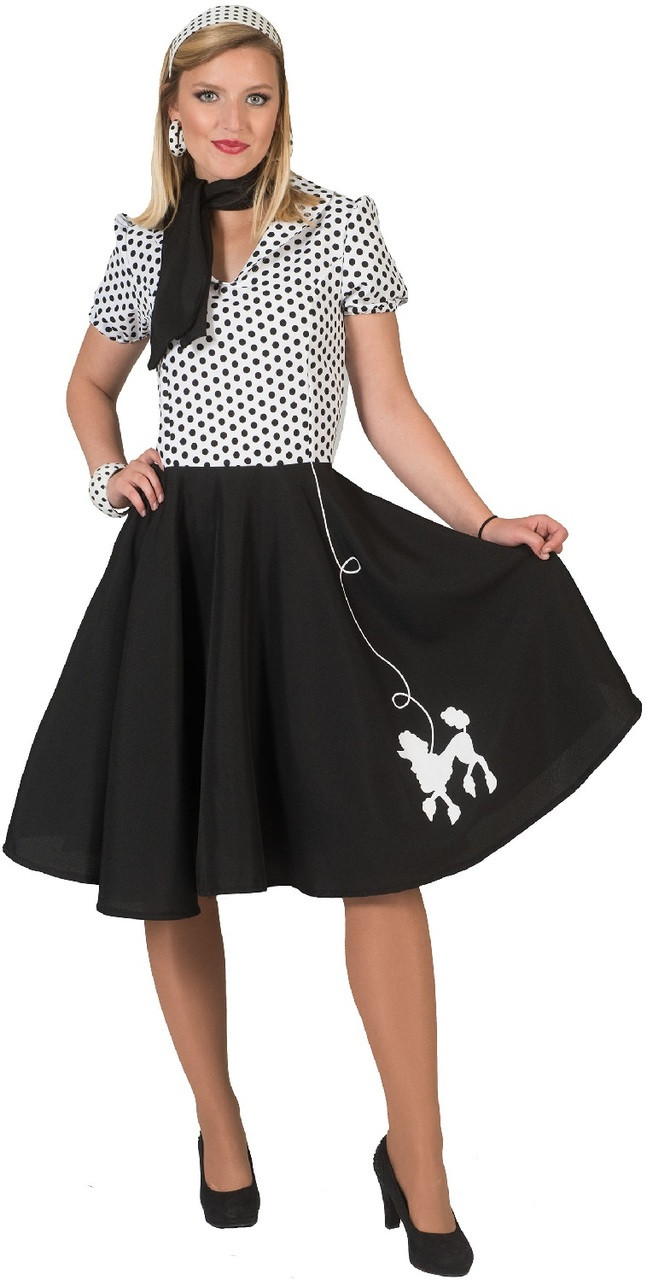4a9760c28b Ladies 1950s Poodle Skirt Fancy Dress Costume - Fancy Me Limited