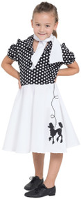 Girls 1950s Poodle Skirt Fancy Dress Costume