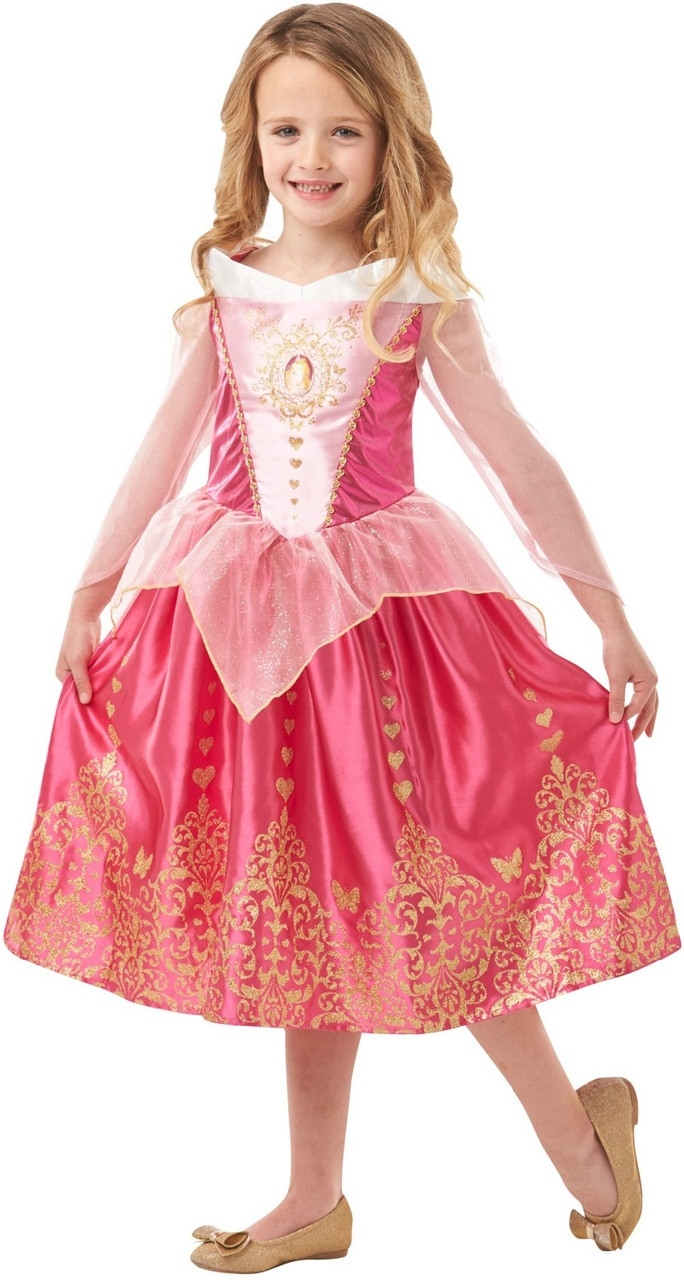 f6ddff635a5 Girls Sleeping Beauty Aurora Fancy Dress Costume
