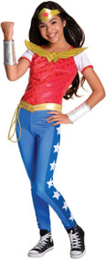 Girls Deluxe Wonder Woman Fancy Dress Costume