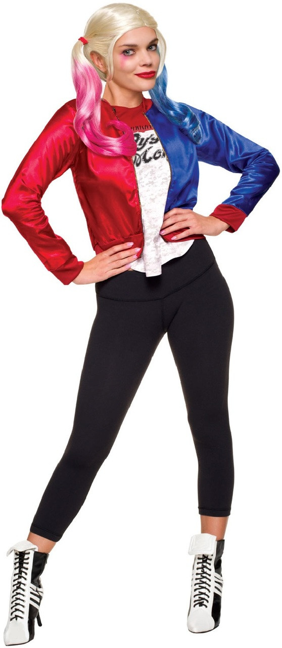 Ladies Harley Quinn Fancy Dress Costume Kit
