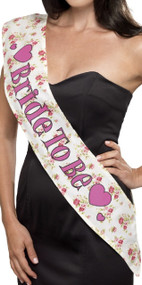 Ladies Vintage Bride To Be Sash