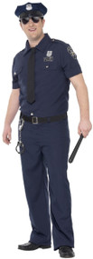 Mens Blue Cop Fancy Dress Costume