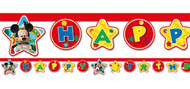 Mickey Mouse Clubhouse Party Letter Banner