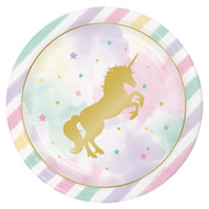 Pastel Unicorn Party Plates