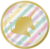 Pastel Unicorn Party Dessert Plates