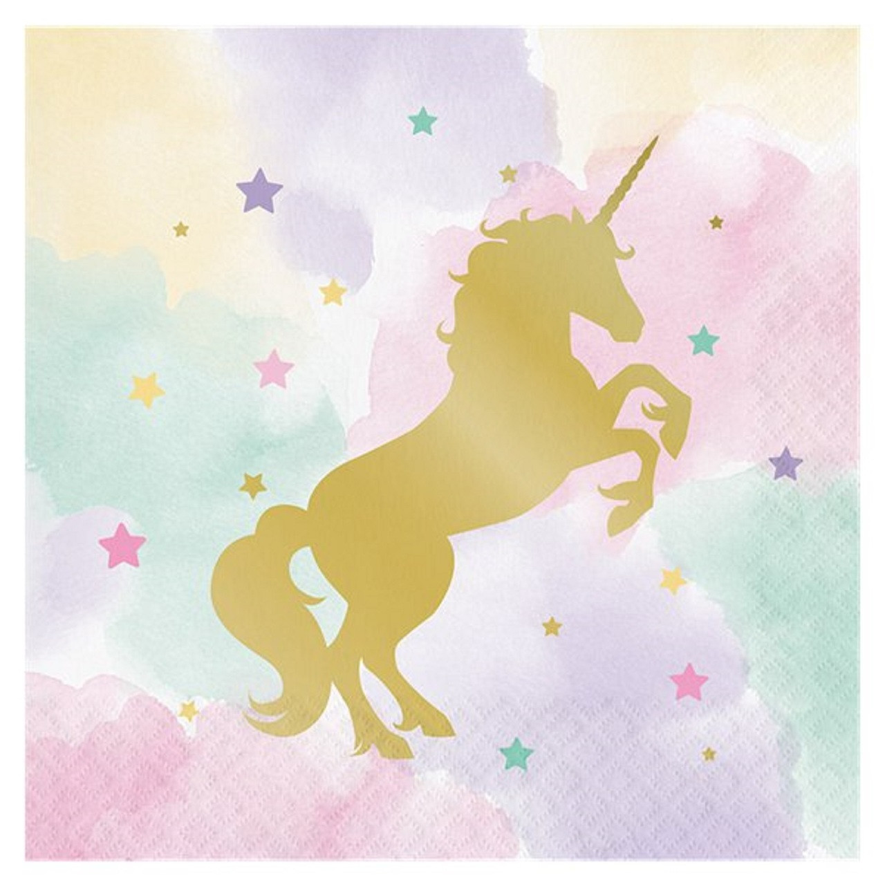 pastel unicorn party napkins fancy me limited