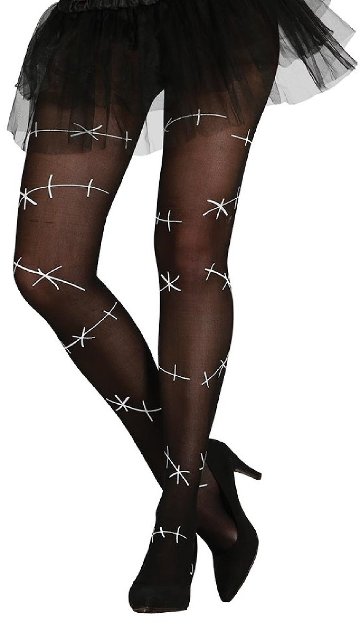438b7366080 Ladies Barbed Wire Fancy Dress Tights - Fancy Me Limited