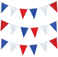 Red White Blue 7m Party Bunting