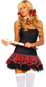 Ladies School Girl Fancy Dress Kit