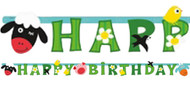 Farmyard Fun Letter Party Banner
