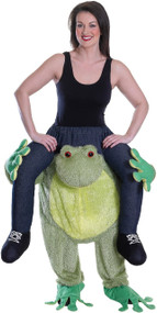 Adults Ride On Frog Fancy Dress Costume