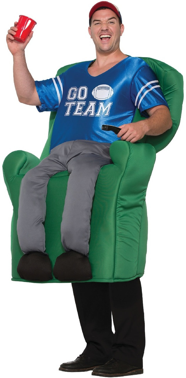 10ee581462a Mens Armchair Athlete Fancy Dress Costume