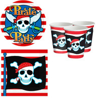 Pirate Skull Party Tableware Set