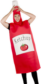 Adults Ketchup Bottle Fancy Dress Costume