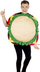 Adults Cheeseburger Fancy Dress Costume