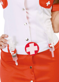 Ladies Syringe Belt Fancy Dress Accessory