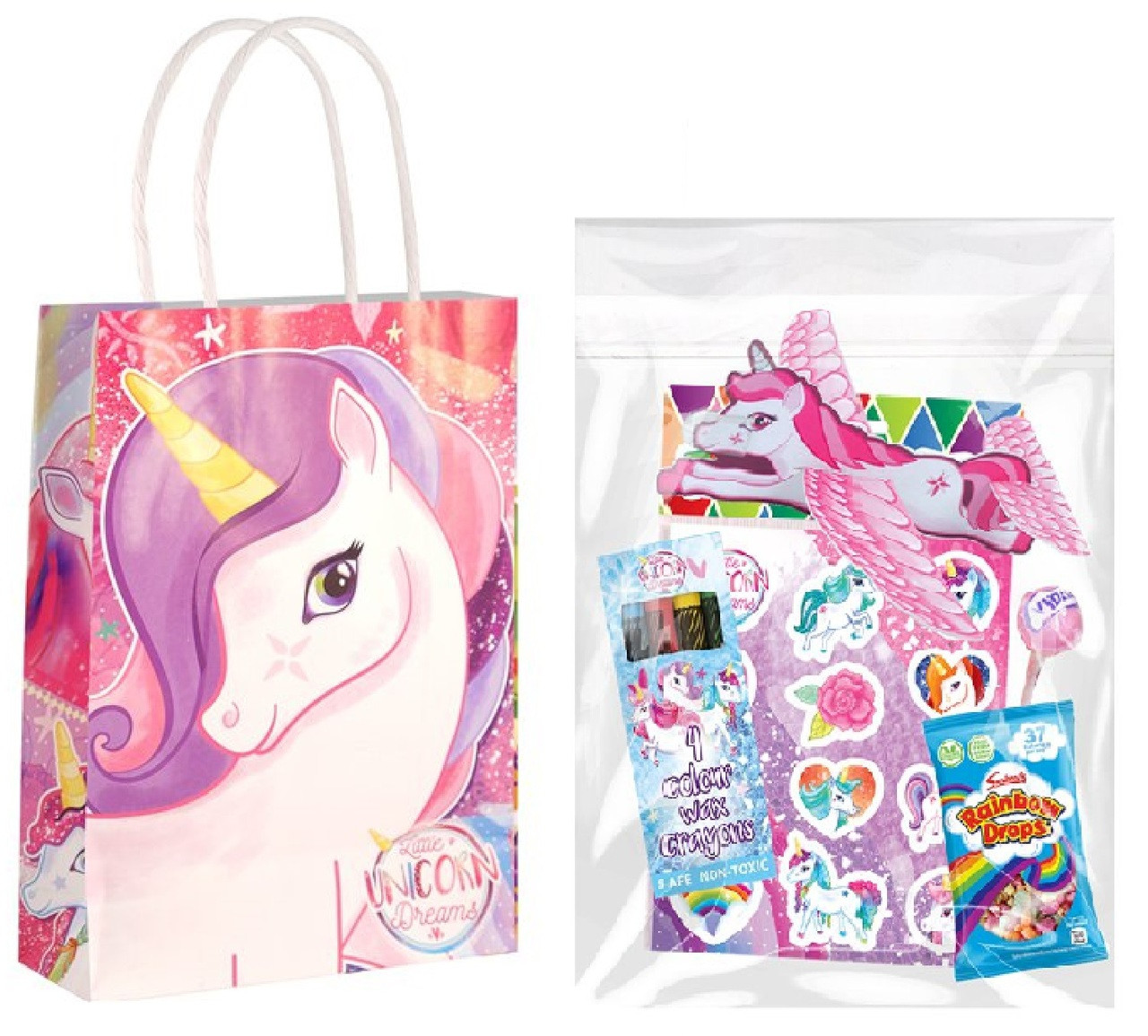Unicorn Filled Party Bags For 10 Fancy Me Limited