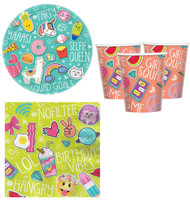 Selfie Celebration Party Tableware Set