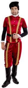 Men's Tudor Earl Fancy Dress Costume