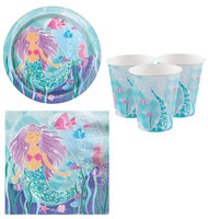 Magical Mermaid Party Tableware Set
