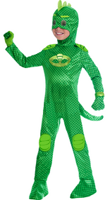 Childs Official PJ Masks Gekko Fancy Dress Costume