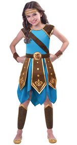 Girls Roman Warrior Fancy Dress Costume