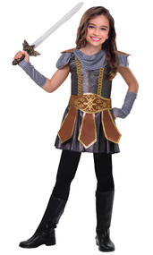 Girls Warrior Fancy Dress Costume
