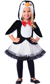 Girls Penguin Fancy Dress Costume