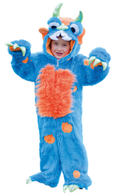 Childs Blue Monster Fancy Dress Costume