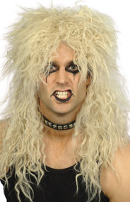 Men's 80s Rock And Roll Fancy Dress Wig