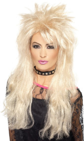 Ladies 80's Wild Child Fancy Dress Wig
