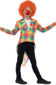 Child's Tartan Clown Fancy Dress Jacket