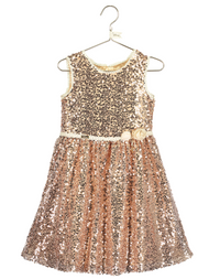 Girls Disney Boutique Sequinned Occasion Dress