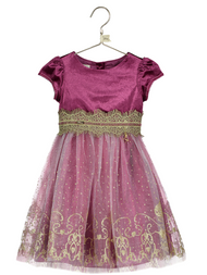 Girls Disney Boutique Jasmine Velvet Occasion Dress
