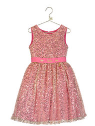 Girls Disney Boutique Sequin Aurora Occasion Dress