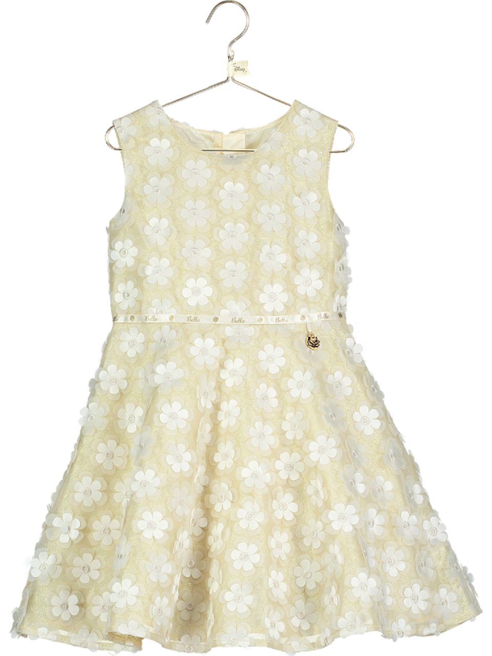Girls Official Disney Boutique Belle Smock Occasion Party Wedding Dress 2-10yrs