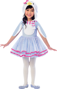 Girls Winter Penguin Fancy Dress Costume