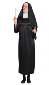 Ladies Sister Nun Fancy Dress Costume