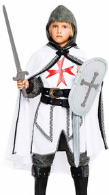 Boys Deluxe Crusader Knight Fancy Dress Costume