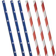 USA Party Straws