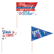 USA Mini Pennants Party Decorations